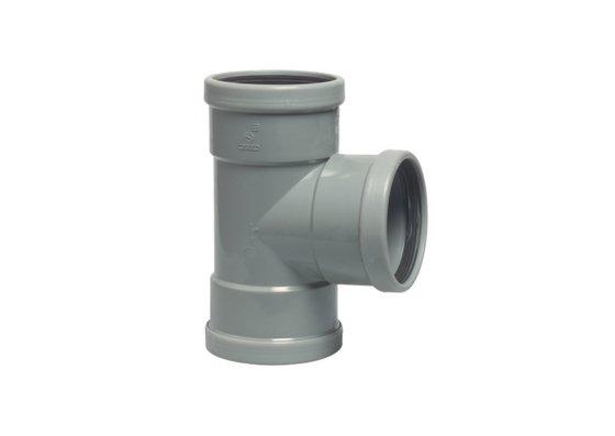 Té de 90° en PVC de 110 mm de diamètre