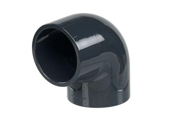 Coude de 90° en PVC rigide de 63 mm de diamètre