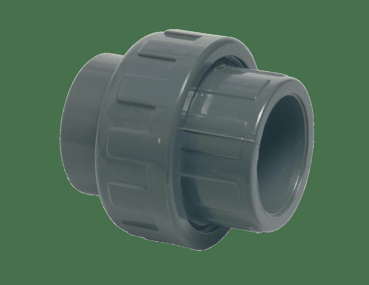 Raccord union en pvc 50 mm swimming pools webshop for Raccord pvc piscine 50