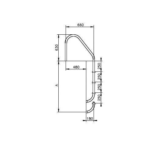 Échelle de piscine – modèle large 3 marches