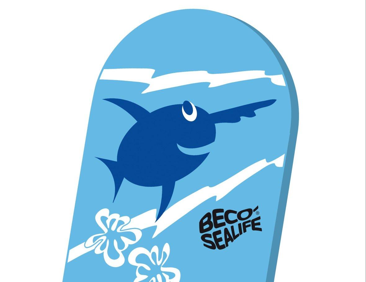 Planche de natation bleue