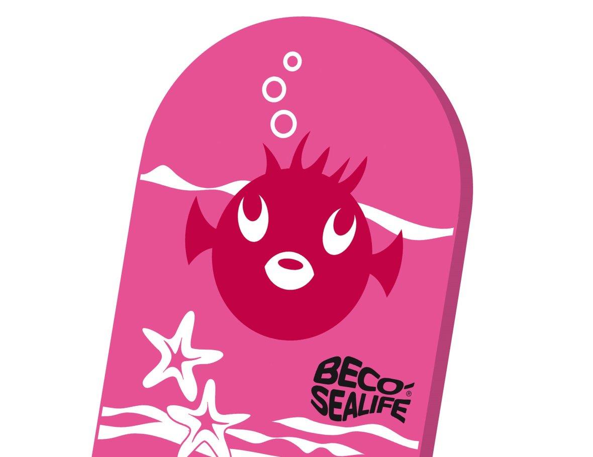 Planche de natation rose