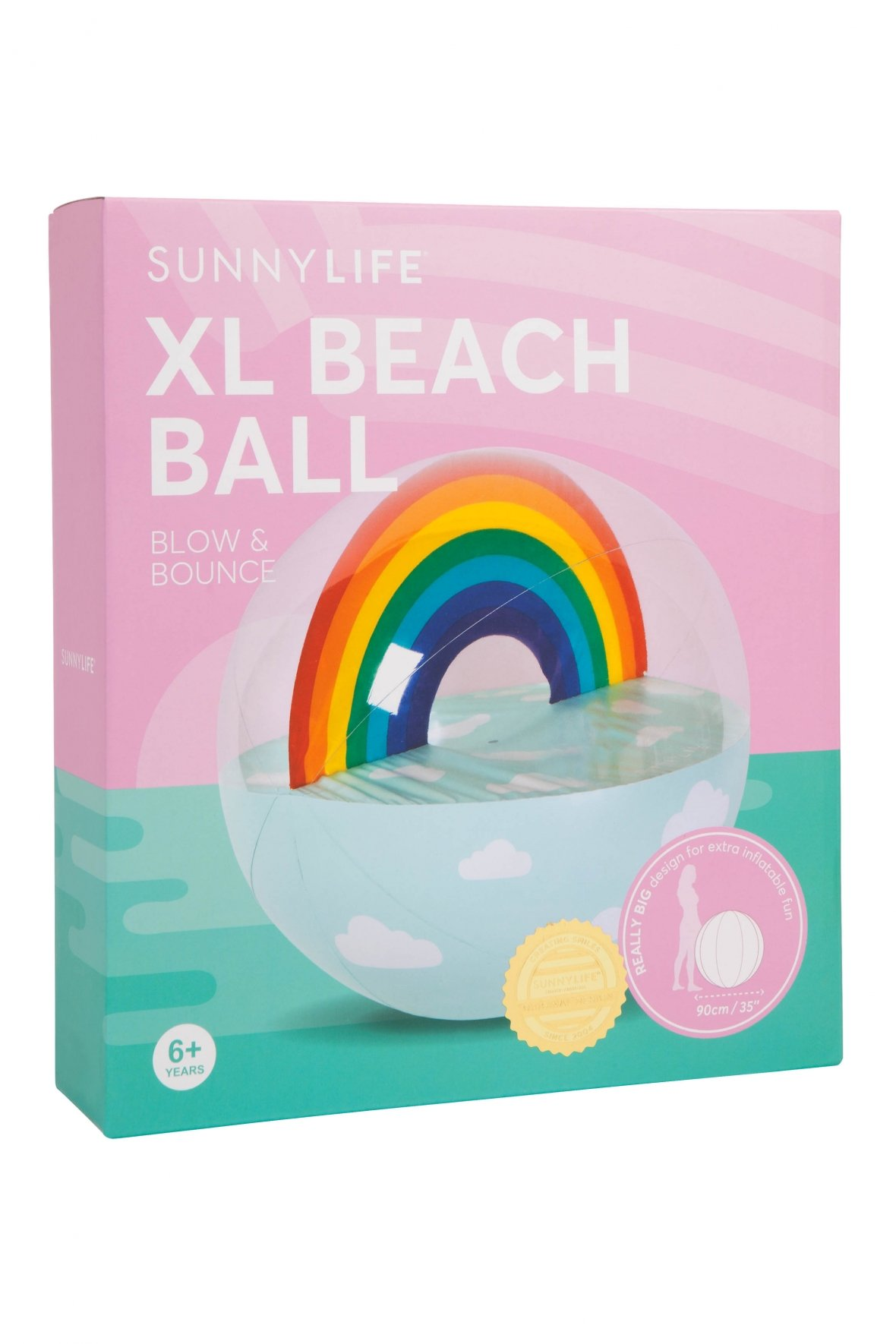 Ballon de plage XL   Arc-en-ciel
