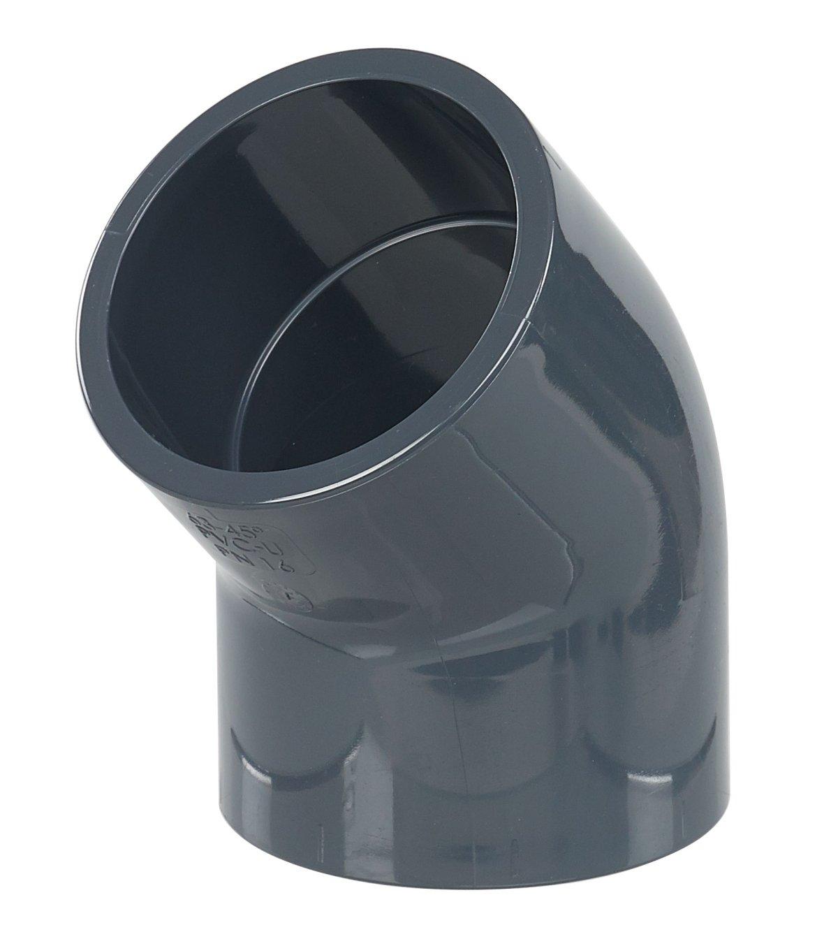 Coude de 45° en PVC Ø 63 mm