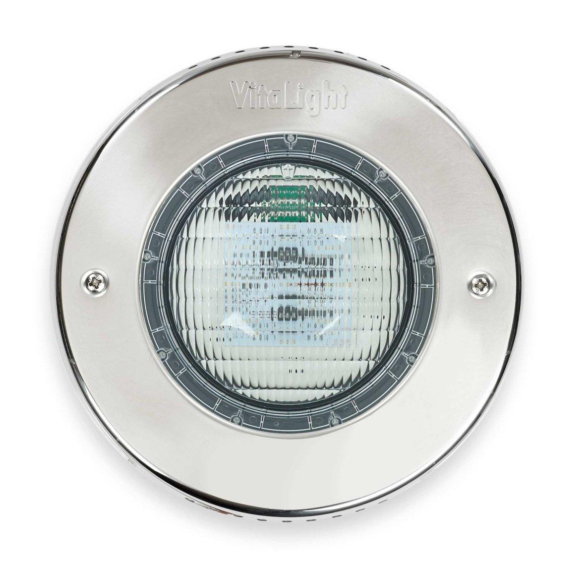 Eclairage LED de couleur à cadre inox.