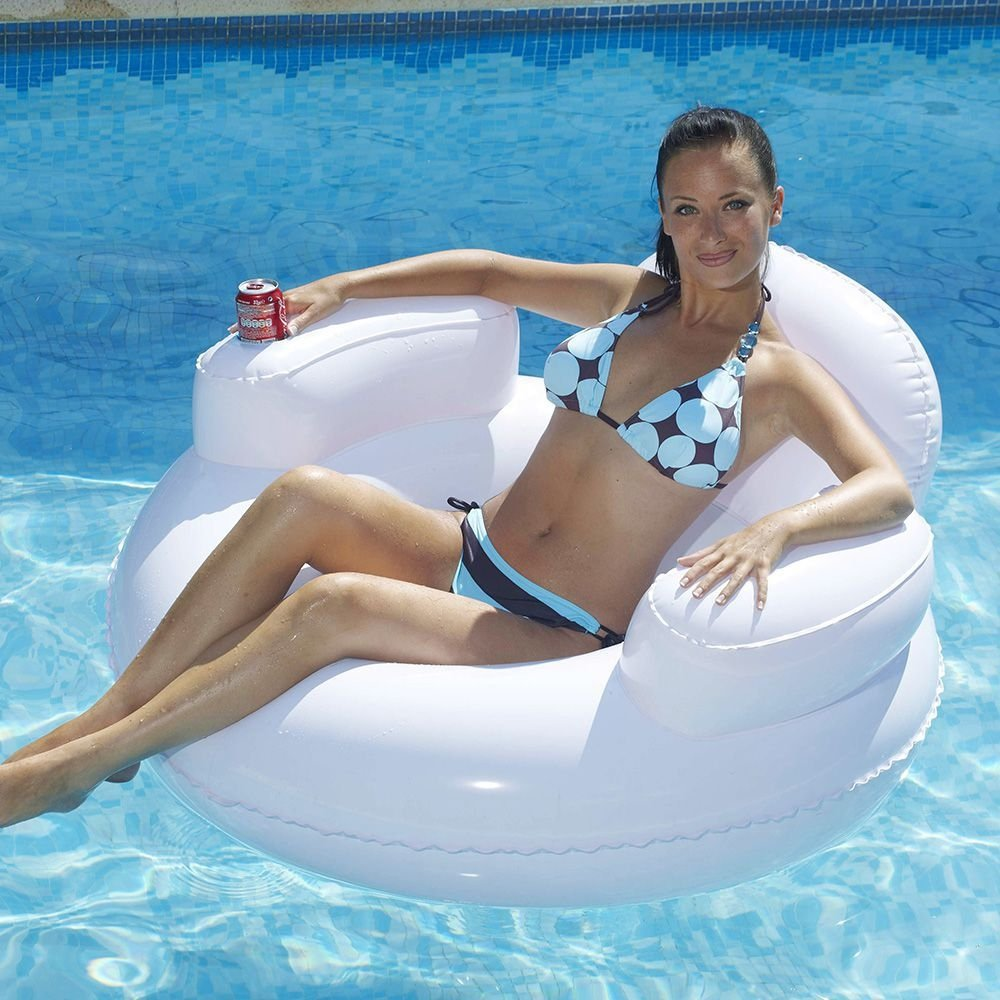 Kerlis comfortabele zwembadzetel – Wit