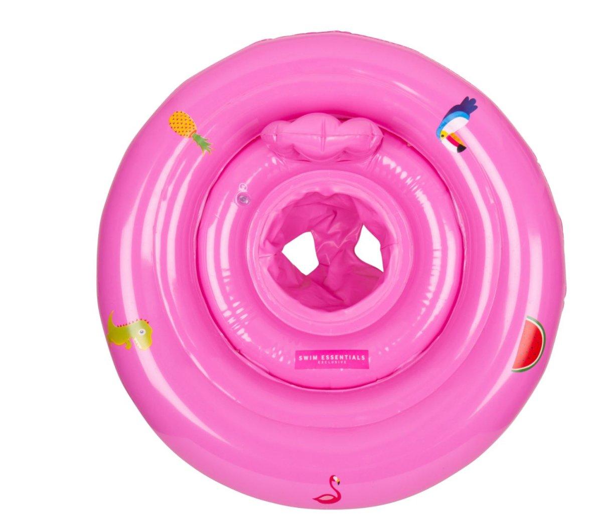 Fauteuil de piscine gonflable pour bébés Rose