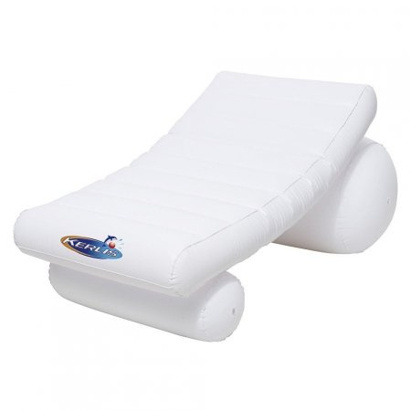 Chaise de piscine gonflable blanche